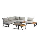 Opito Outdoor Coffee Table - High - Charcoal Aluminum/Ceramic