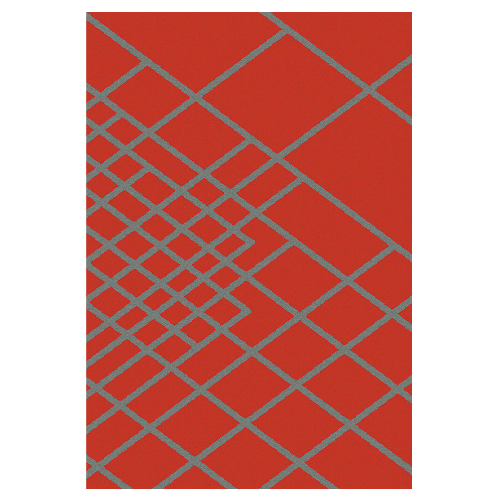 Rug - City Graphix  160x230 - Burnt Orange/Grey