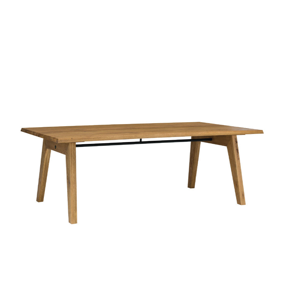 Rustic Nordic 220cm Table - Solid American White Oak Timber