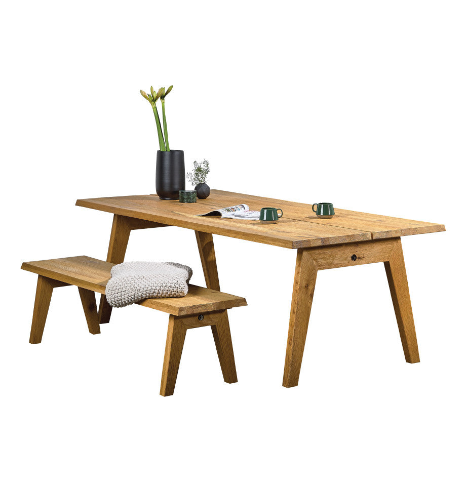 Rustic Nordic 2200 Table - Solid American White Oak