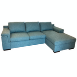 Valencia 2.5 Sofabed Left + Storage Chaise R - Fabric Leon, Col Teal