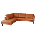 Stockholm Chaise Left + 2.5 Seater Right - Cat 18 Matisse Tan Full Grain Leather