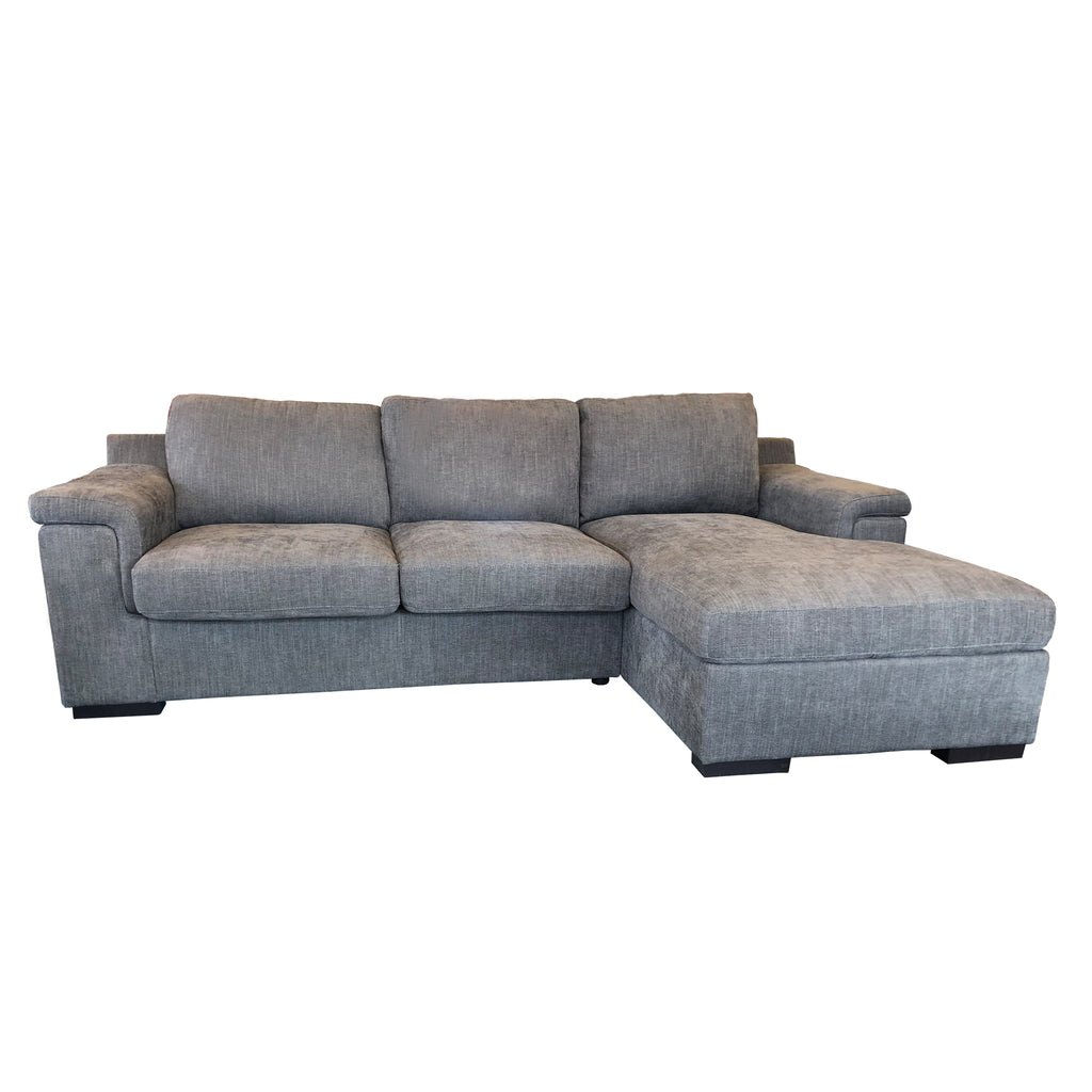 Valencia 2.5 Double Sofabed LHF + Storage Chaise RHF - Roma Sofa Fabric Istanbul, Colour Dark Grey
