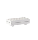 Waiheke Outdoor Small Side Table - White Aluminum