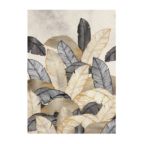 Wall Art - Tropics Leaf Print - Natural Slope Frame