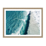 Wall Art - Surfer Glass Framed Print - Oak Look Frame