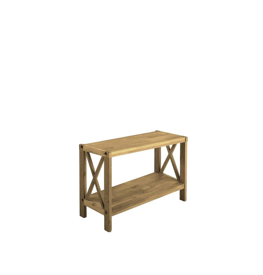 X-Shelf Unit w/2 Shelves - Oak Natural Oil