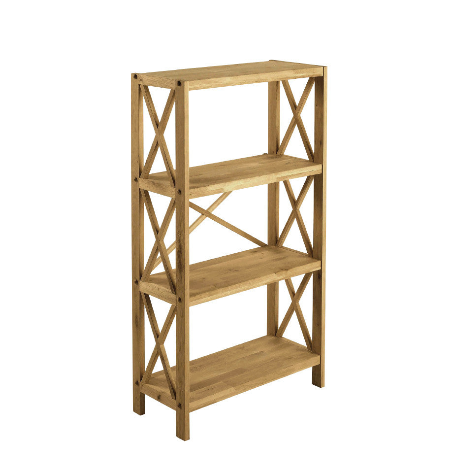 X-Shelf Unit w/4 Shelves - Oak Natural Oil