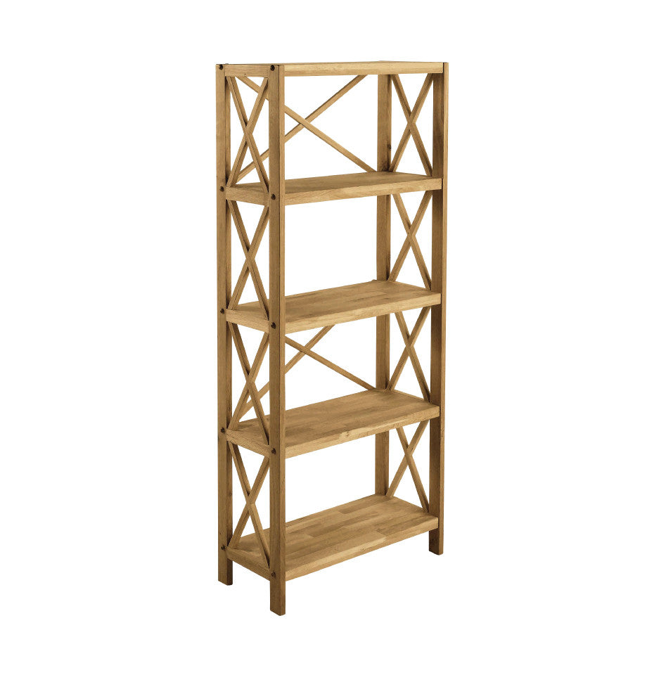 X-Shelf Unit w/5 Shelves - Oak Natural Stain - 80320600