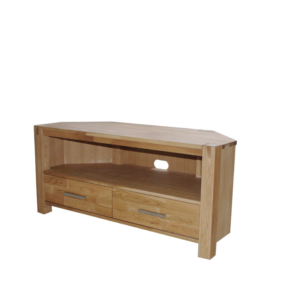 Modena Oak Corner Entertainment Unit - Living Room Furniture - Furnish