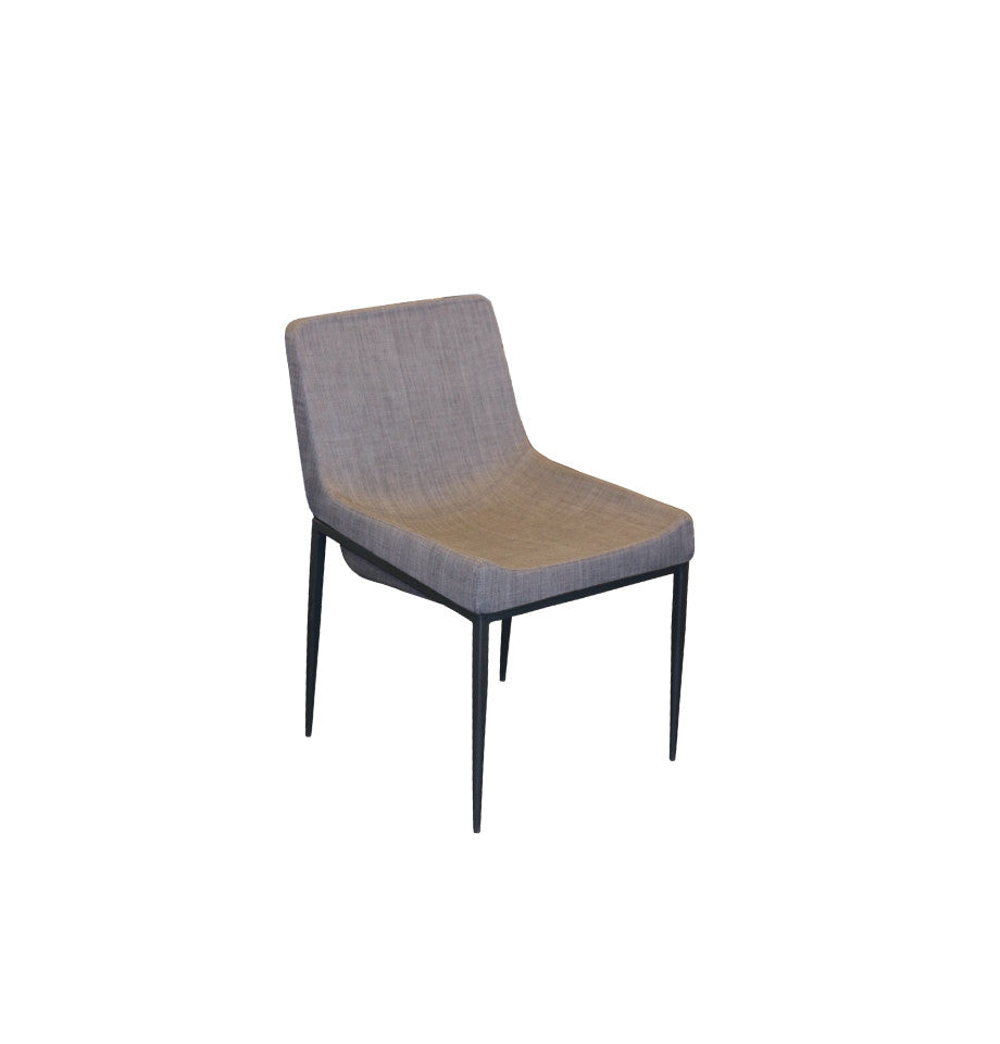 Havana Chair Grey - Black Powder Coated Frame