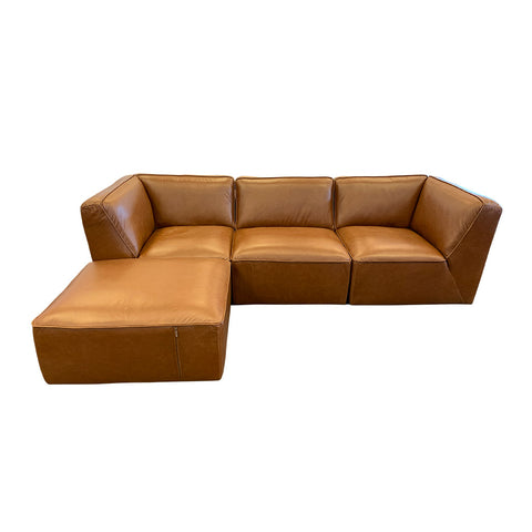 Marley 2pc Sofa Chaise - Urban Sofa Taupe Full Grain Leather