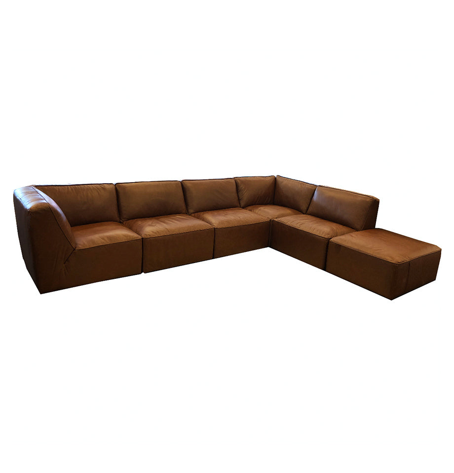 Arletta 6pce Suite - Cat 15 Kings Road Tan Urban Sofa Leather