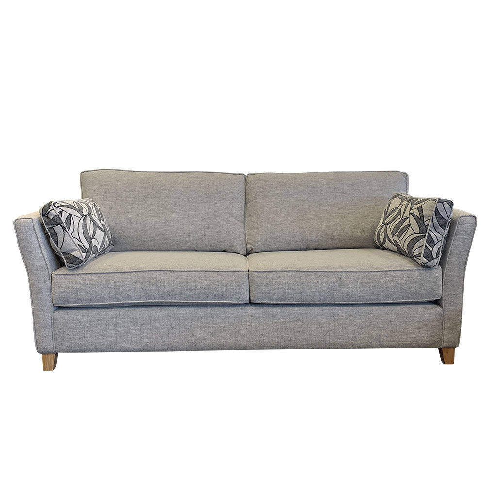 Atlanta 3 seater sofa in Jake Silverstreak fabric