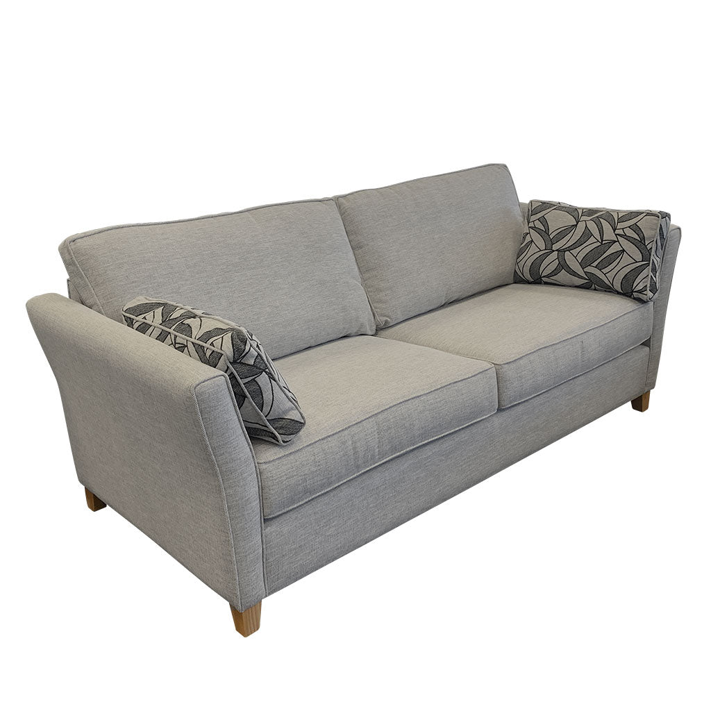 Atlanta Sofa in Jake Silverstreak fabric - 3 seater side view