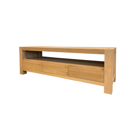 Beckett 2drw Hall Table - American Oak/Oak Veneer