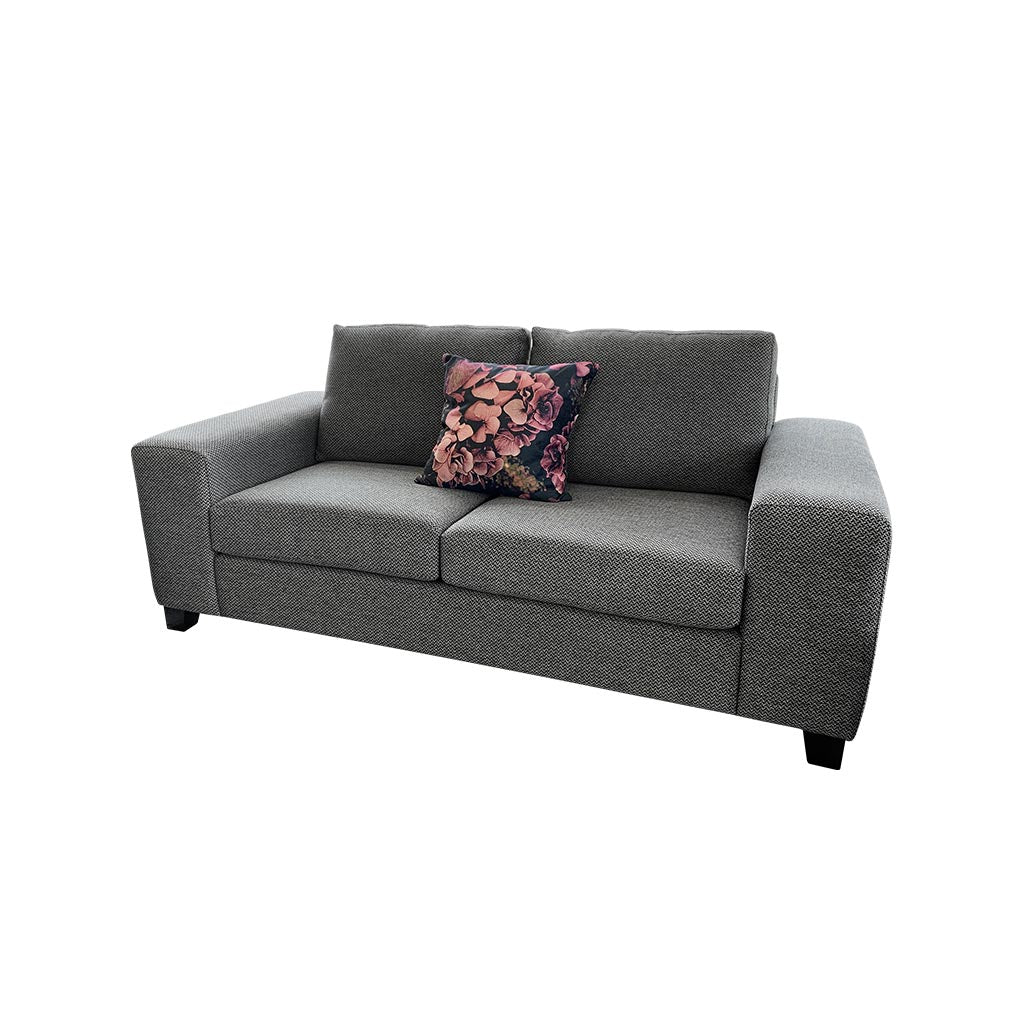 Boston 2 seater sofa - loft charcoal - wide arm sofa