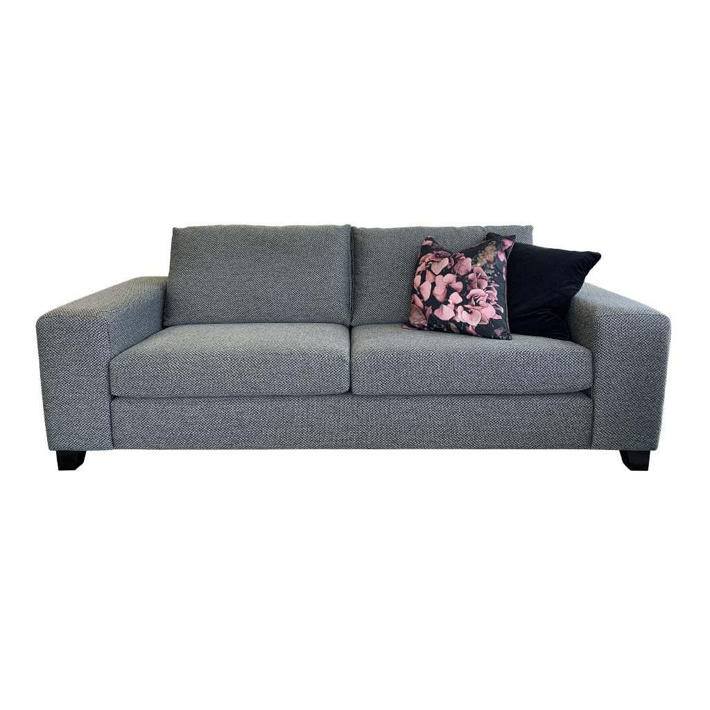 NZ Made Boston - Loft Charcoal - 3 seater sofa