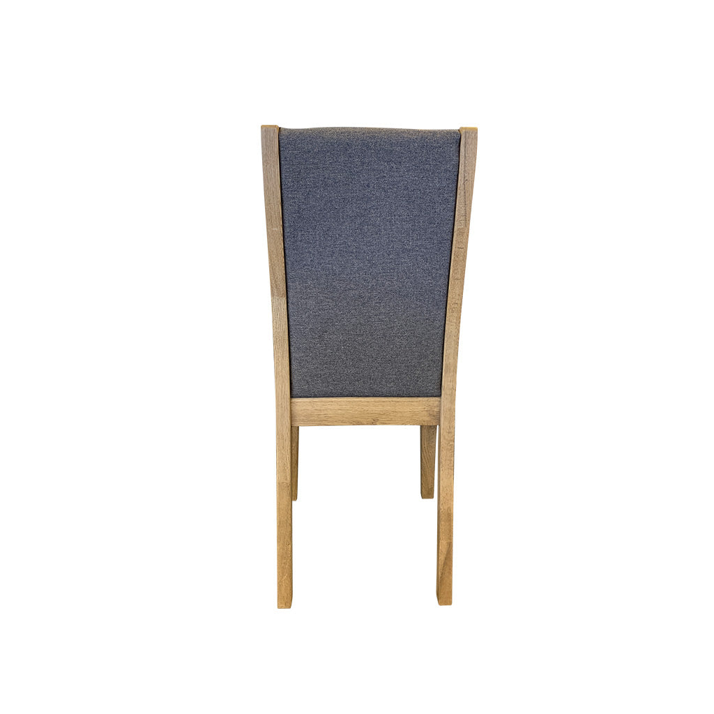 Bresso Dining Chair - Oak with fabric seat and back