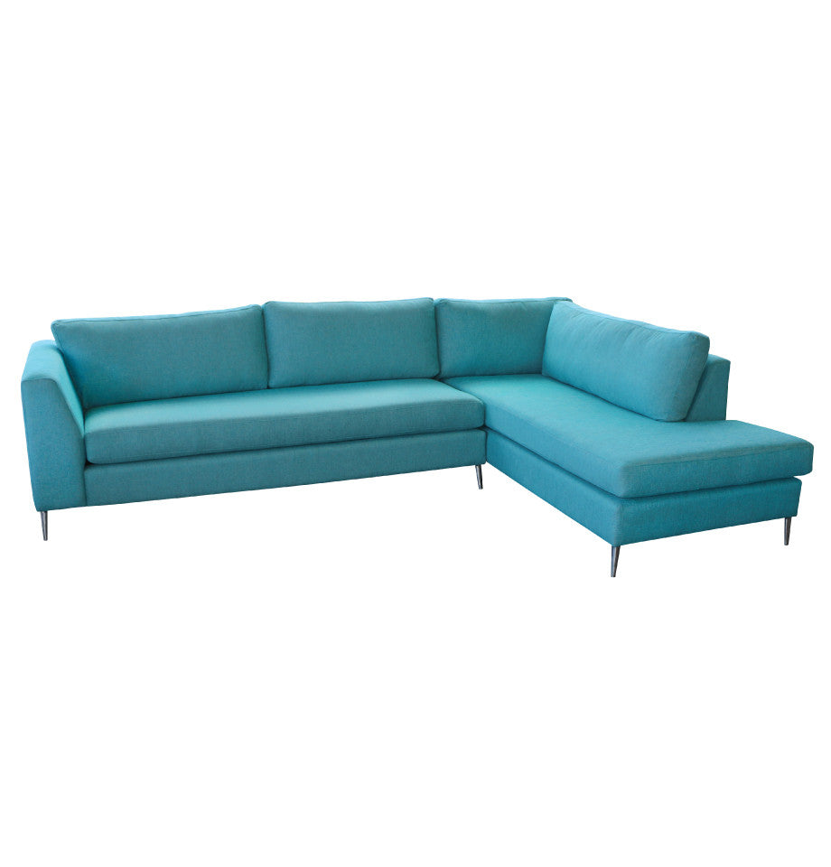 Picasso - 3L+Corner Extension Chaise R - Jake Turquoise