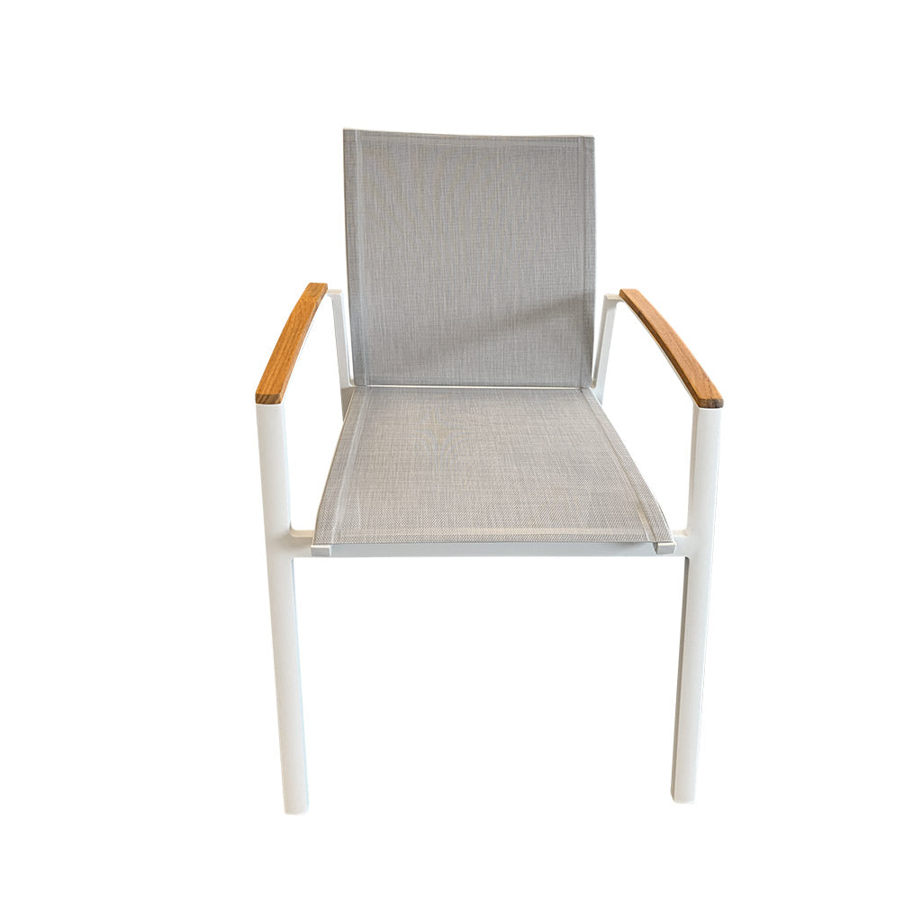 Cairo white outdoor dining chair