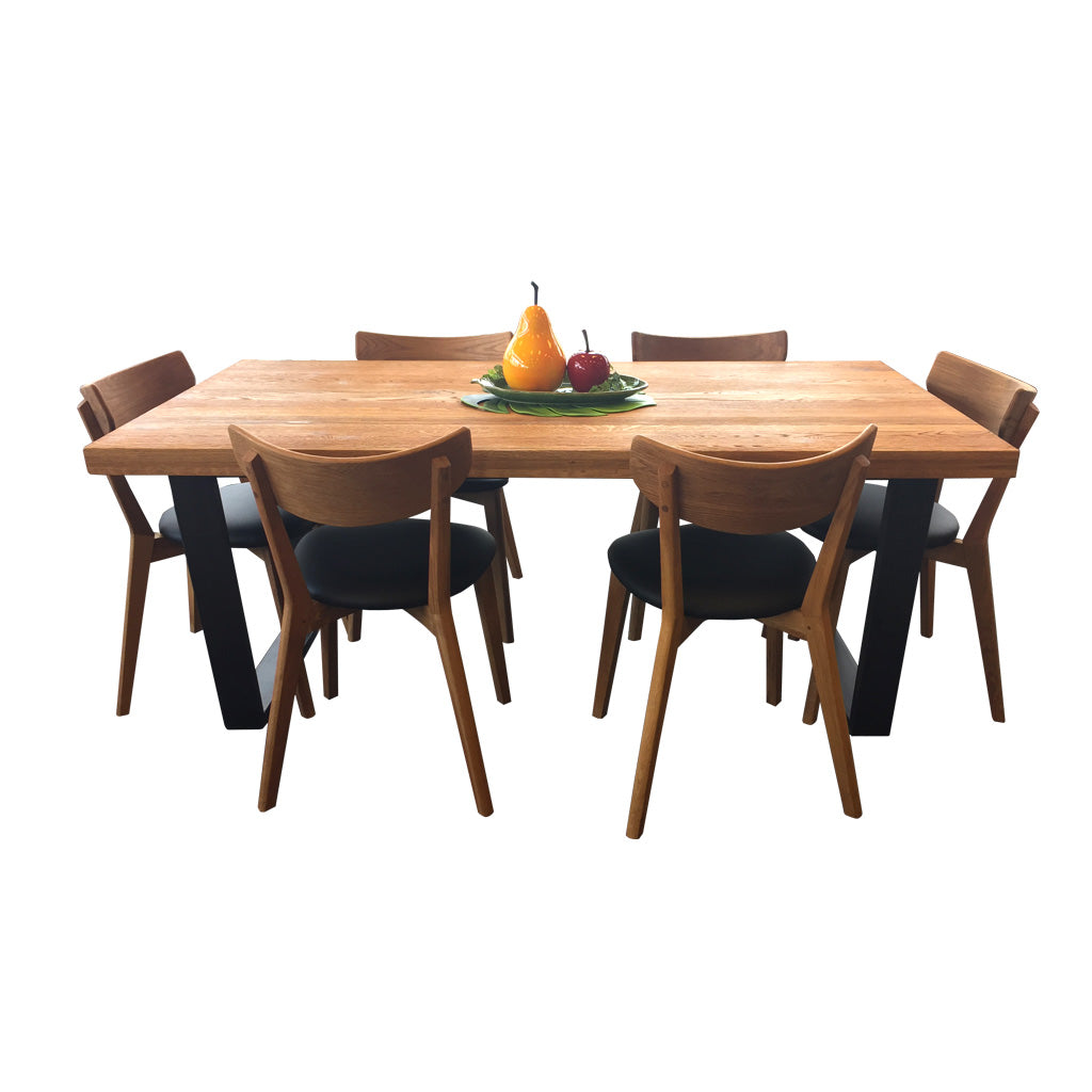 Calia / Pisa 7 piece dining set - Dining Table & Chairs - Furnish