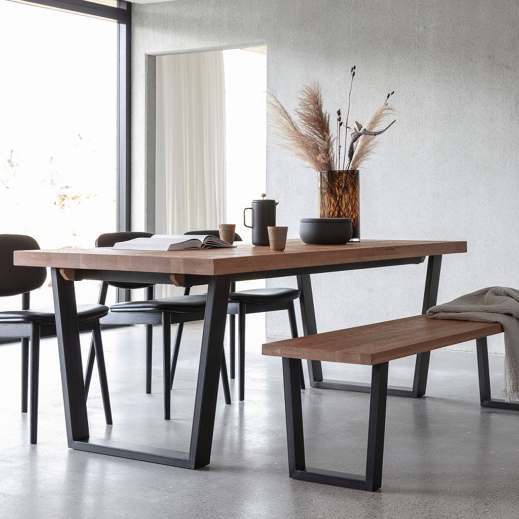 Calia dining table and bench seat