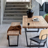 Oak wooden dining table from the Calia Range