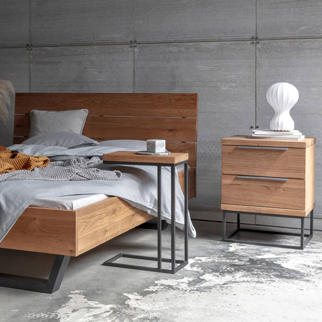Calia sofa table as a bed side table