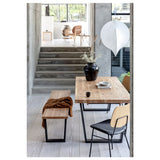 Calia dining table and bench seat setting