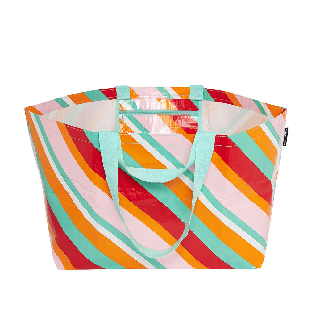 Project Ten - Oversize Tote - Candy Stripes