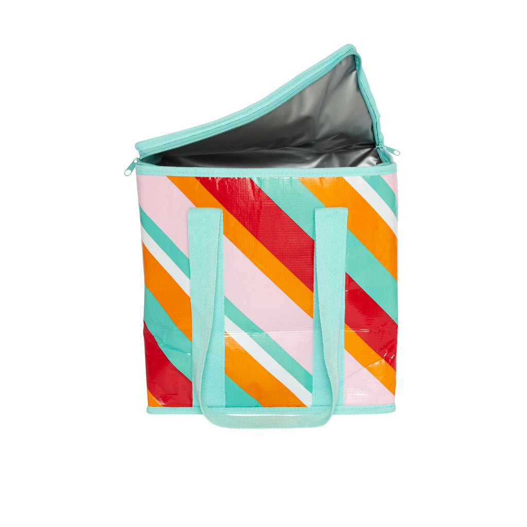 Project Ten - Insulated Tote - Candy Stripes