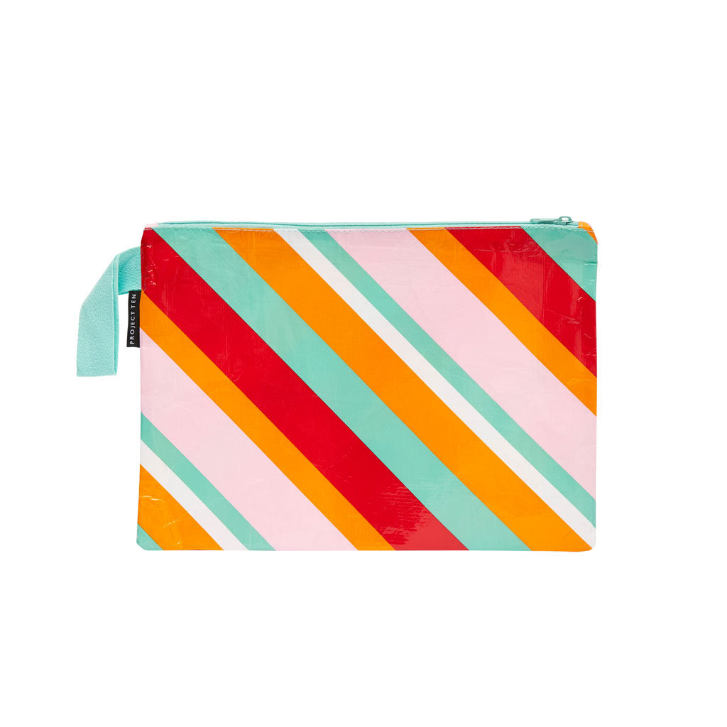Project Ten - Zip Pouch - Candy Stripes - Large
