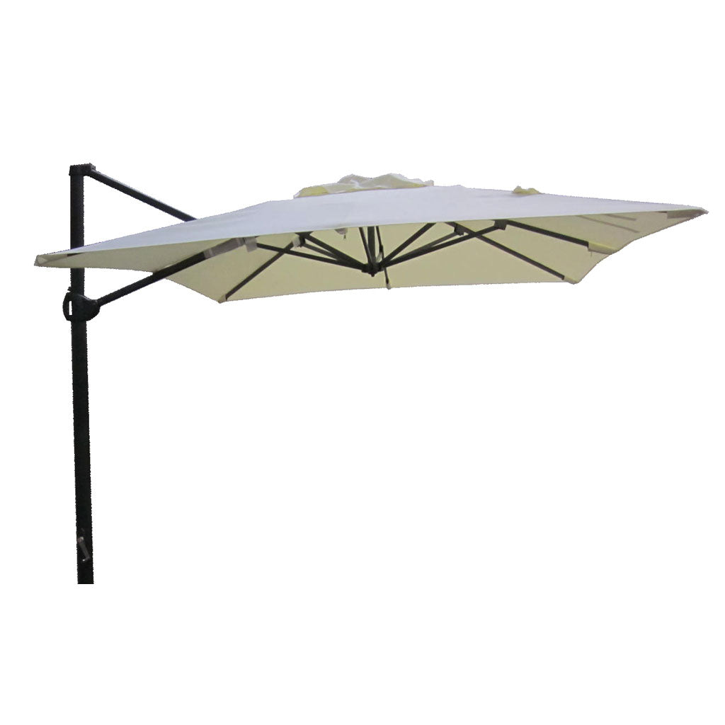 Cantilever square acrylic 2.5m outdoor umbrella