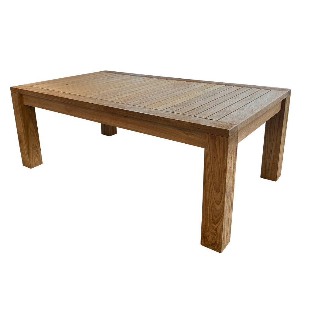 Picture of: Caribbean Solid Teak Timber Outdoor Coffee Table Furnish