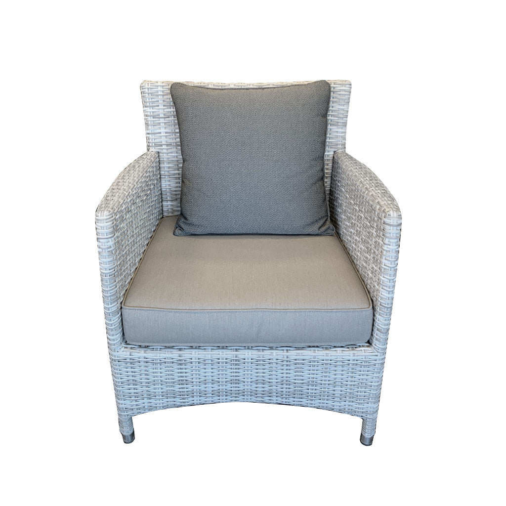 Cayman Outdoor Lounge Chair - Rehau German Wicker Horizon Grey