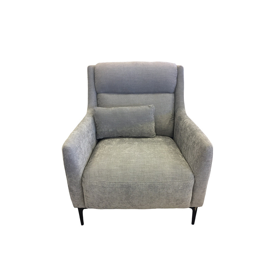 Charlise Grey Fabric Armchair