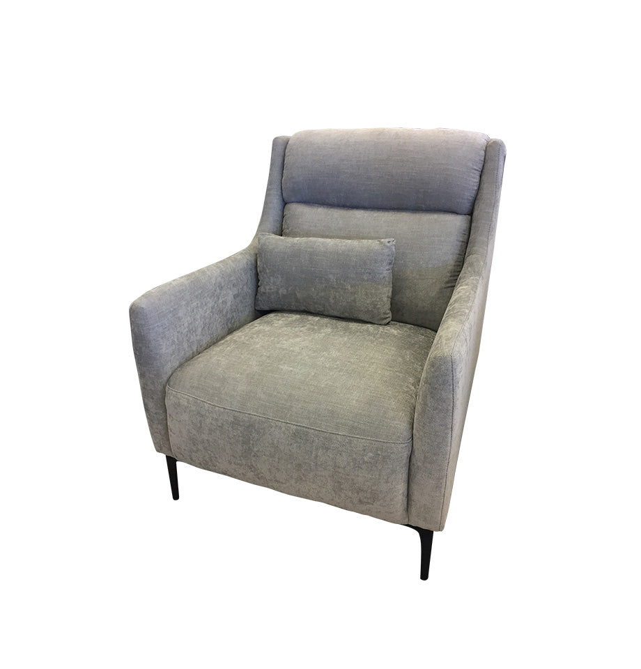Charlise Grey Fabric Chair