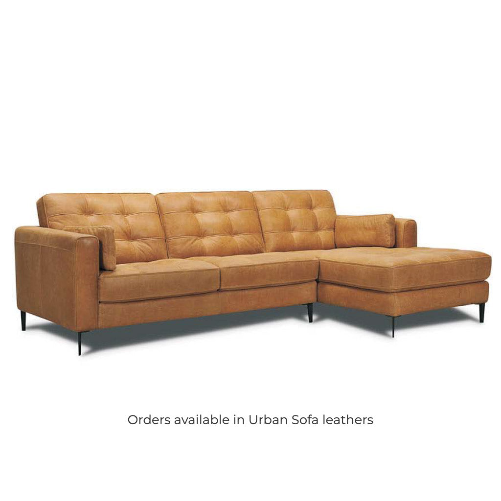 Modern brown leather lounge sofa suite