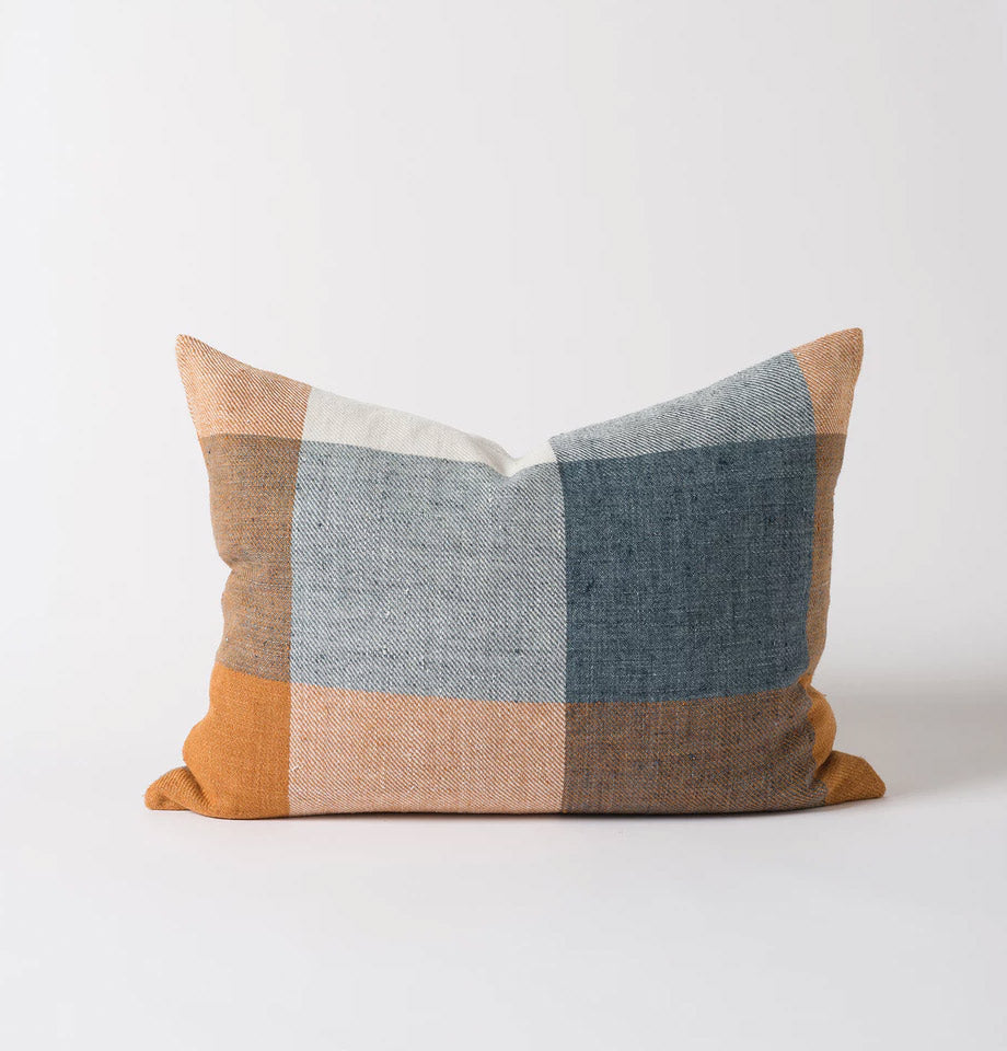 Citta Design Cushion - Morrison Woven - Midnight/Tumeric - Feather & Down Inner