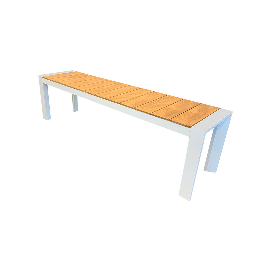 Copenhagen Outdoor Bench - 1620x400mm - White