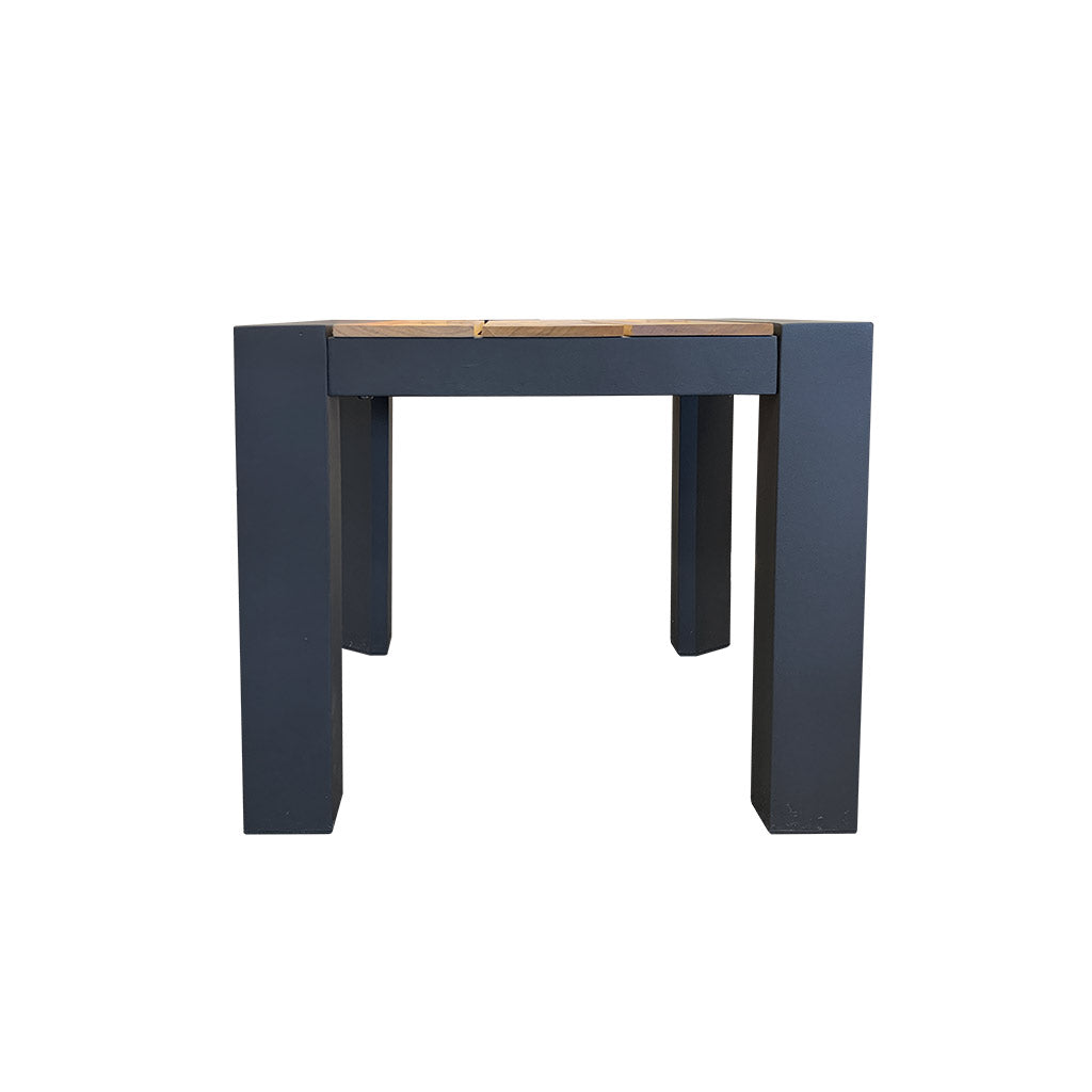 Copenhagen charcoal side table - timber and aluminium