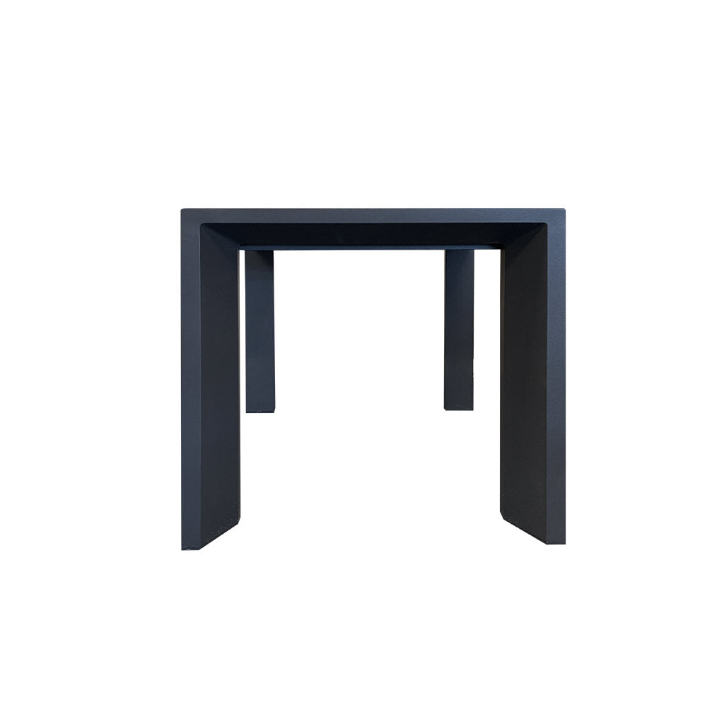 Copenhagen side table - charcoal powder-coated aluminium