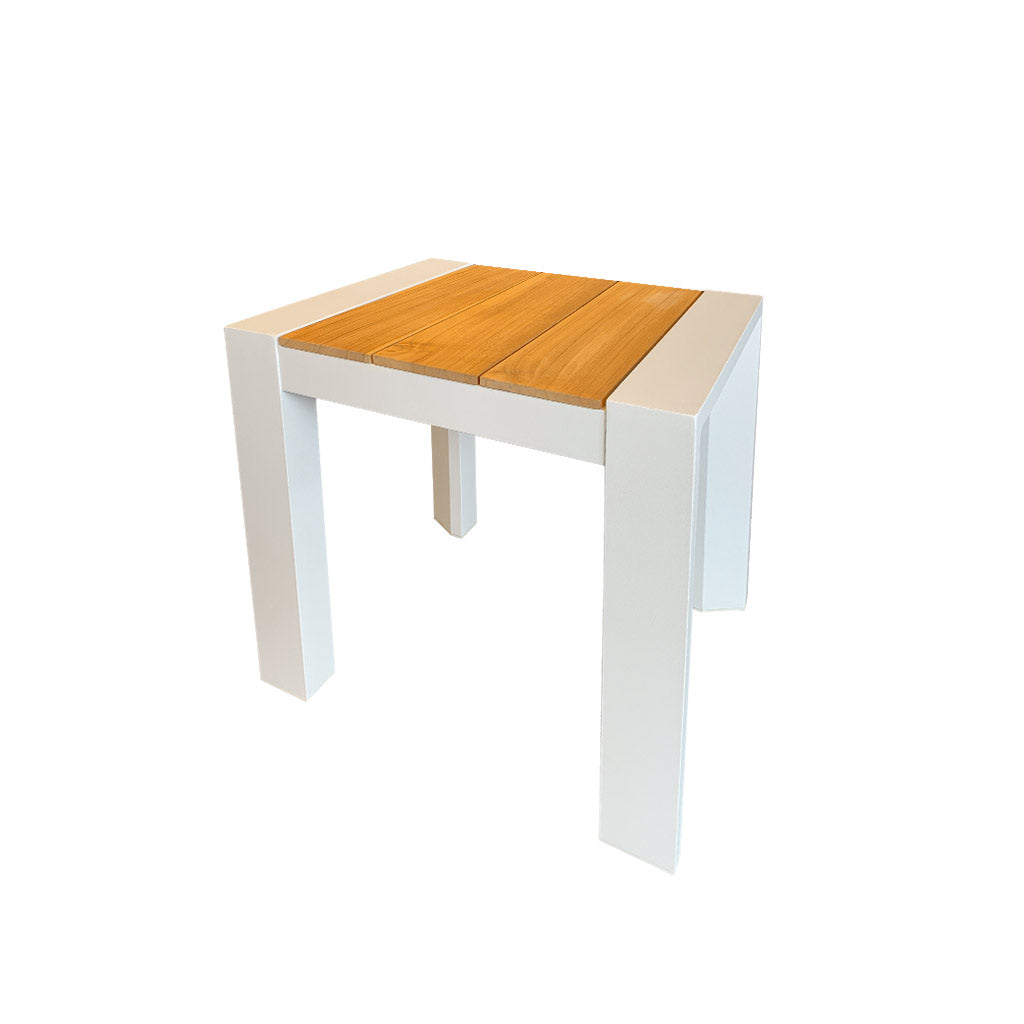 Copenhagen white outdoor side table