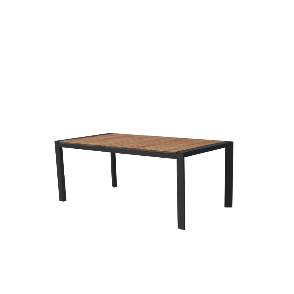 Copenhagen outdoor dining table - charcoal