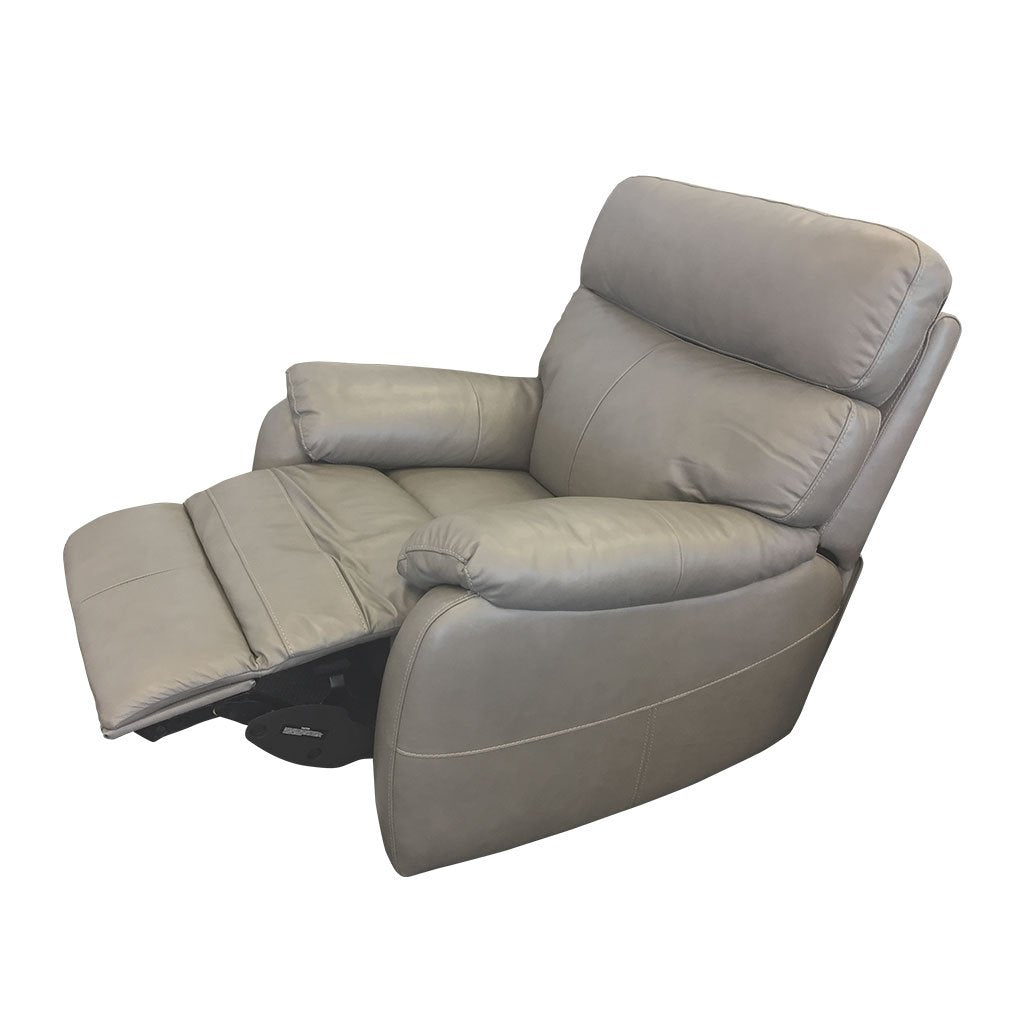 Cortez light grey leather - 1 seater recliner