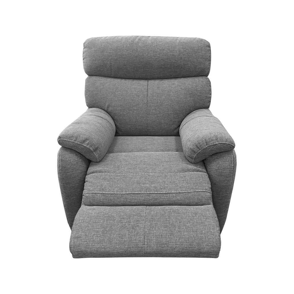 Cortez charcoal fabric 1 seater recliner