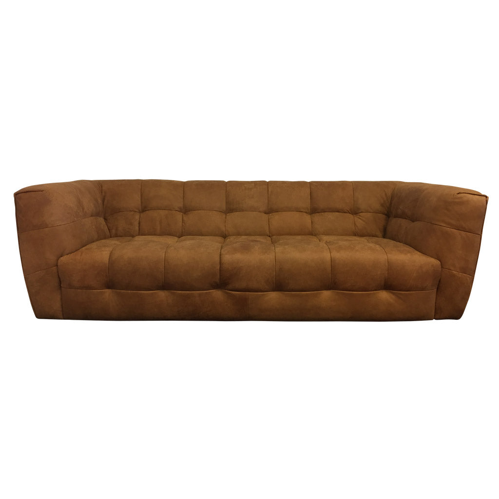 Cruz large Tan Leather Sofa - Living Room Furniture
