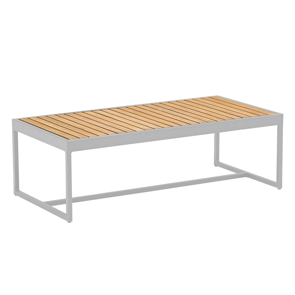 Cube outdoor coffee table - white