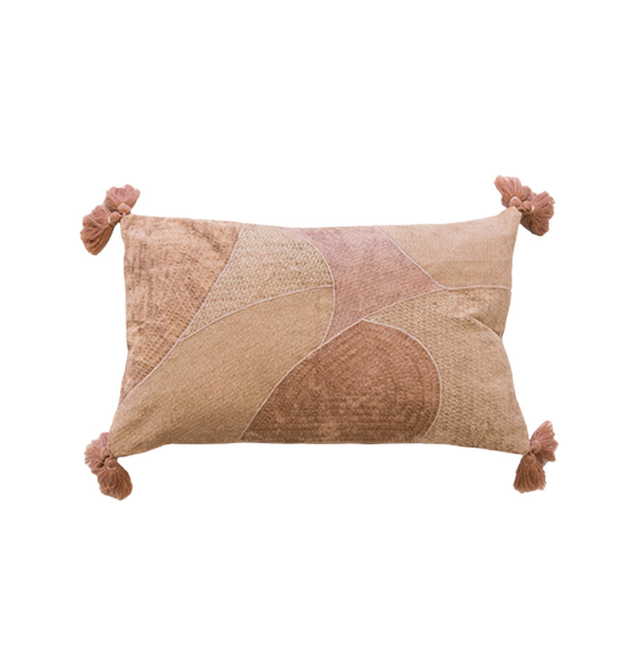 Norah Cushion in Dusky Rose and Gold | Cotton Soft Furnishings
